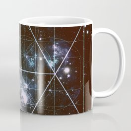 Galaxy Sacred Geometry dark Coffee Mug