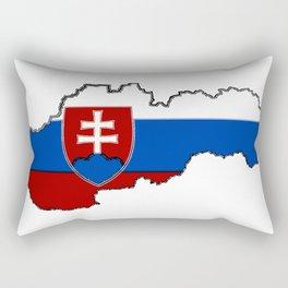 Slovakia Map with Slovakian Flag Rectangular Pillow