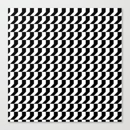 Orange: Black And White Pattern Canvas Print
