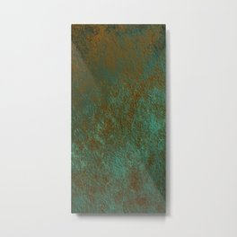 Green Patina Copper rustic decor Metal Print