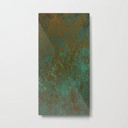 Green Patina Copper rustic decor Metal Print