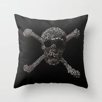 goonies Throw Pillows featuring The Goonies Movie Art Print by Skahfee Studios