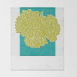 Floral Greens Throw Blanket