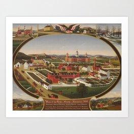 Berks County Almshouse, 1880, John Rasmussen (1828–1895) Art Print