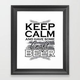 craft beer   gift for craft beer lovers Framed Art Print