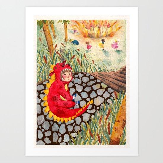 Little Dragon Art Print