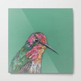 Anna's Hummingbird Portrait Metal Print