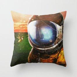 Socializing Throw Pillow