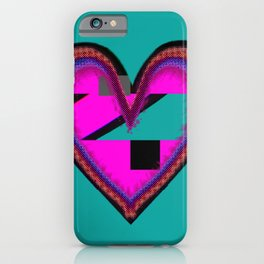 Heart of Teal iPhone Case