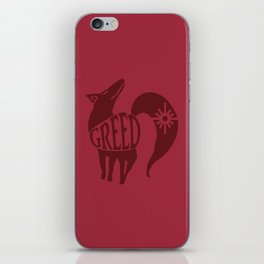 The Fox's Sin of Greed iPhone Skin