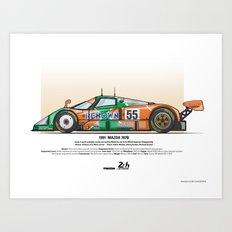 Mazda 787B - 1991 Herbert Gachot Weidler Art Print
