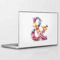 mushrooms Laptop & iPad Skins featuring Mushrooms & by Sasha Vinogradova