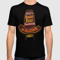 Arby's Americana X-LARGE Black Mens Fitted Tee