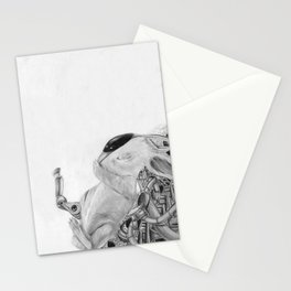 Cyborg Bunny Stationery Cards