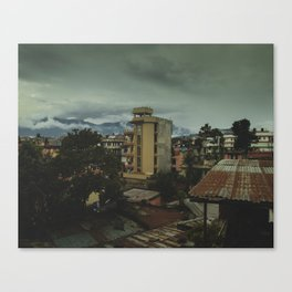Kathmandu City Roof Top 001 Canvas Print