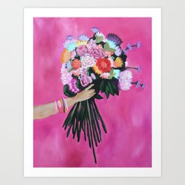 Rainbow Posy Art Print