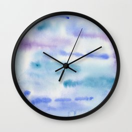 The Rhythm of Blue - Art Watercolor Painting by Suisai Genki Wall Clock