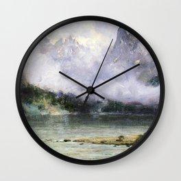 Alaska Scene Near Juneau 1894 By Thomas Hill | Reproduction Wall Clock