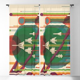 The Grand Tour : Vintage Space Poster Blackout Curtain
