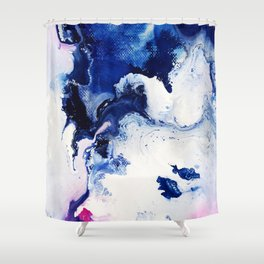 Riveting Abstract Watercolor Painting Shower Curtain