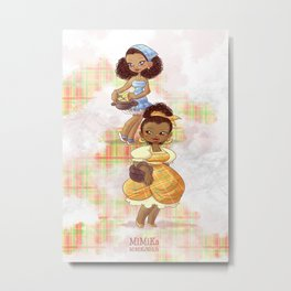 Caribbean Girls Metal Print
