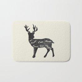 Venison Butcher Diagram-Deer Bath Mat