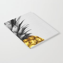 Gray and golden pineapple Notebook