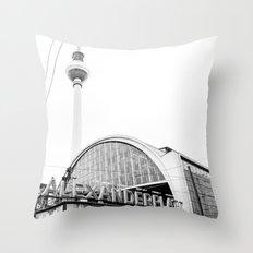Berlin Alexandraplatz Throw Pillow