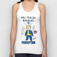 fallout 3 Tank Tops featuring PerceptionS.P.E.C.I.A.L. Fallout 4 by sgrunfo