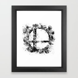 Super Smash Bros Ink Splatter Framed Art Print