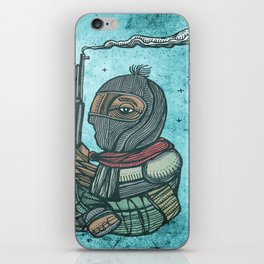 Zapatist mexican soldier iPhone Skin
