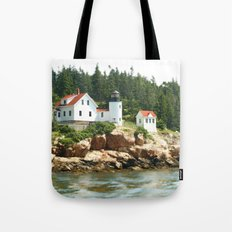Bass Lighthouse Tote Bag