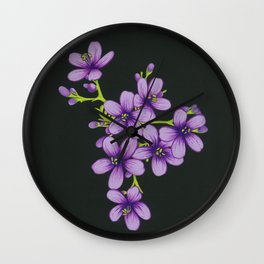 Black Pages III Wall Clock