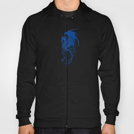 Flying Blue and Black Tribal Dragon Hoody
