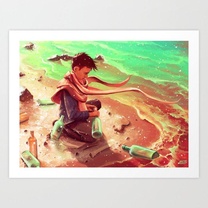 Long Message Service Art Print