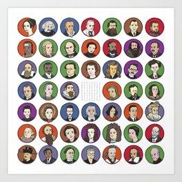 Portraits of Important Scientists Art Print