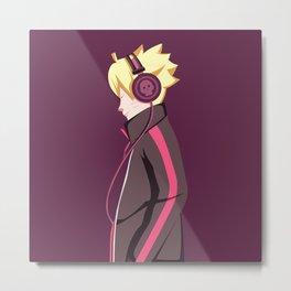 Boruto earphone Metal Print