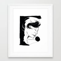 fitzgerald Framed Art Prints featuring Ella Fitzgerald by breakfastjones