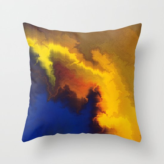 Mystical Movement Throw Pillow