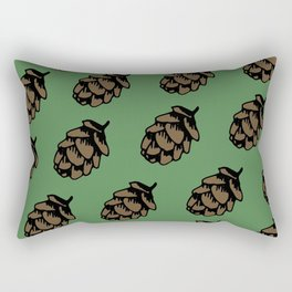 Green Pinecone Pattern Rectangular Pillow