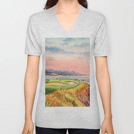 Pebble Beach Golf Course Hole 7 Unisex V-Neck