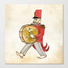 López, bass drum Canvas Print