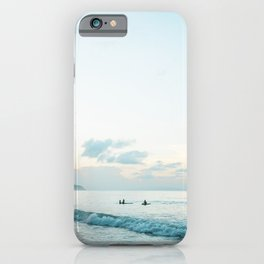 Once your board hits the water  | Surf travel photography print iPhone Case