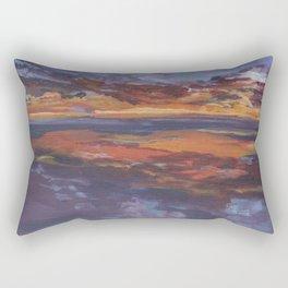 Purple sunset, travel painting Rectangular Pillow