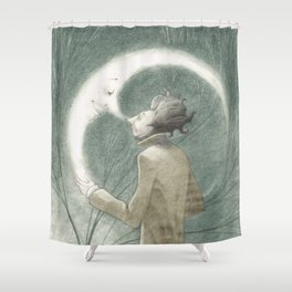 THE MAN & THE MOON Shower Curtain