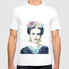 Frida Kahlo  White Mens Fitted Tee MEDIUM