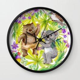 Australian Animals Party Wall Clock