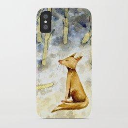 Meditating fox iPhone Case