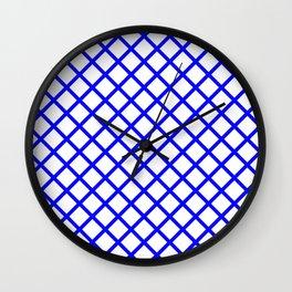 Cobalt Lattice Wall Clock