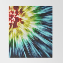 Abstract Dark Tie Dye Throw Blanket
